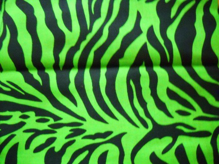 Green Zebra Print EXOTIC SAFARI ZEBRA PR...