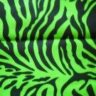 EXOTIC SAFARI ZEBRA PRINT HOT LIME GREEN & BLACK BANDANA SCARF HANKERCHIEF