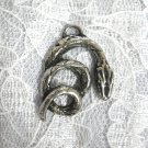 NEW COILED BOA CONSTRICTOR SNAKE SERPENT REPTILE PEWTER PENDANT NECKLACE PYTHON