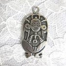 PUERTO RICO TAINO ATABEY CAGUANA FERTILITY & FRESH WATER GODDESS PEWTER PENDANT ADJ NECKLACE