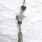 STERLING SILVER ZUNI SPIRIT BEAR DREAM CATCHER CONCHO 14g BLACK CZ BELLY BUTTON RING