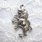 WELSH LION / RAMPANT LION SCOTTISH / ENGLISH REARING w CLAWS CAST PEWTER PENDANT NECKLACE