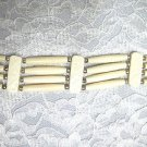 SALE NEW 4 ROW IVORY WHITE BONE CHOKER NECKLACE / ARM BAND / COWBOY HAT BAND