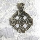 UNIQUE KNIGHTS TEMPLAR CROSS WITH RING DETAILED CELTIC KNOT BAIL PENDANT NECKLACE