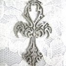 WILD ANCIENT ETERNAL LIFE ANKH / ANHK USA CAST PEWTER PENDANT ADJ STRING CORD NECKLACE