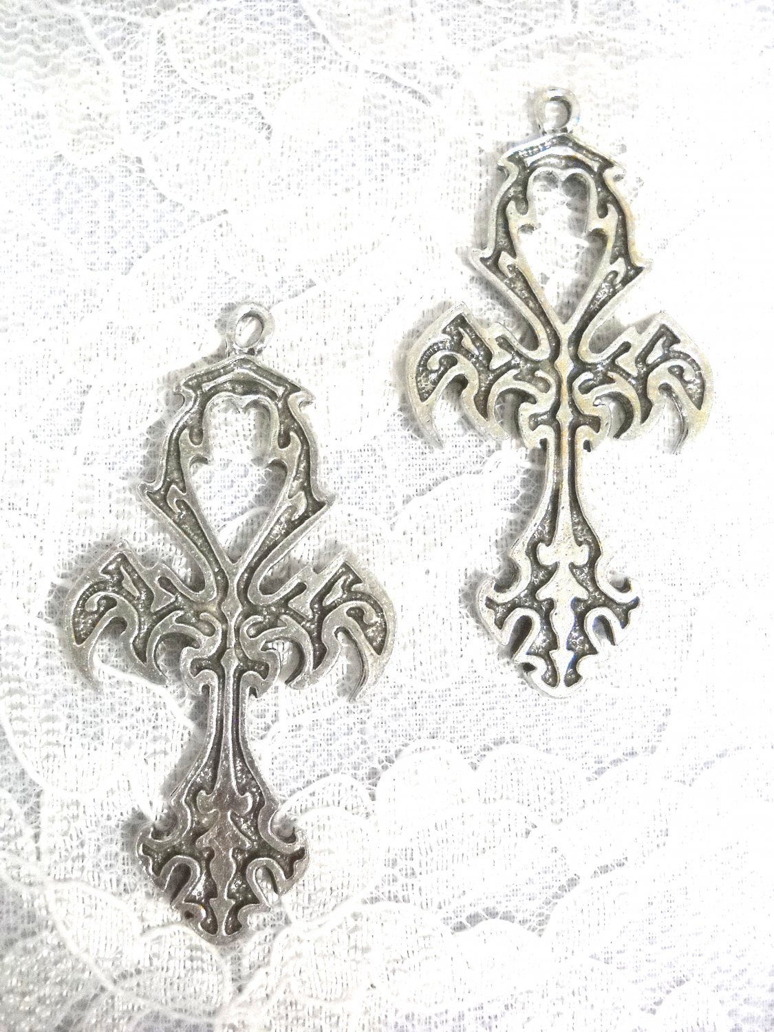 NEW DESIGN ETERNAL LIFE SYMBOL ANHK CROSS LARGE FULL PENDANT EARRINGS ANKH JEWELRY