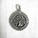 NEW FOREVER INFINITY CELTIC IRISH 3 LEAF CLOVER ROUND USA PEWTER PENDANT ADJ CORD NECKLACE