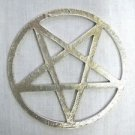 "NEW HUGE EVIL OCCULT 3"" SATANIC PENTAGRAM STAR PEWTER PENDANT ADJ NECKLACE"