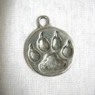 MAKING TRACKS WOLF PAW PRINT WOLF TRACKER SILVER CAST PEWTER PENDANT ADJ CORD NECKLACE