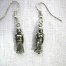 NEW 3D TRIBAL WIFE WOMAN in PAPOOSE w BABY & DRESS PAIR OF PEWTER CHARM EARRINGS