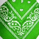 NEW JOHN DEERE GREEN COLOR PAISLEY BANDANA HEAD WRAP SCARF HAT BAND HANKERCHIEF