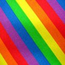 COLORFUL GAY PRIDE RAINBOW BLUE PURPLE GREEN RED YELLOW ORANGE HEAD WRAP SCARF HANKERCHIEF