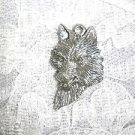 WILDLIFE GRAY WOLF HEAD BUST PROFILE USA CAST PEWTER PENDANT ADJ CORD NECKLACE