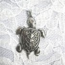 NEW OCEAN DESIGN HONU ENDAGERED  SEA TURTLE PEWTER PENDANT ON ADJ CORD NECKLACE