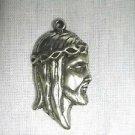 NEW JESUS CHRIST CROWN OF THORNS HEAD PROFILE CAST PEWTER PENDANT ADJ NECKLACE