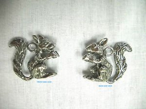 NEW WOODS TREE CRITTER WILDLIFE ANIMAL 3D SQUIRREL HEAVY PEWTER PENDANT NECKLACE