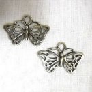 SALE TRIBAL TATTOO ART DESIGN DANGLING BUTTERFLY BUTTERFLIES PEWTER PENDANT HOOK WIRE EARRINGS