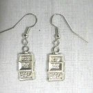 GAMBLER VIVA LAS VEGAS JACKPOT SLOT MACHINE LUCKY 777 WINNER PAIR OF CHARM EARRINGS