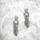 2 SIDED 3D FERTILITY GODDESS PREGNANCY DANGLING USA CAST PEWTER CHARM WIRE HOOK EARRINGS