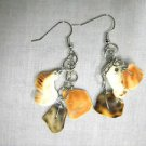 NEW CUSTOM MADE 3 WIRE BAIL SHELL PIECES ON CHAIN BEACH LOVER DANGLING EARRINGS
