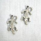 FULL BODY CROC / CROCODILE CHARMS DANGLING EARRINGS HOOK WIRE METAL GATORS