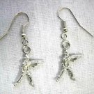 NEW 3D ARMY SOLDIER AMERICAN MILITARY PEWTER CHARMS DANGLING EARRINGS ARMY WIFE