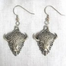 NORTH AMERICAN WILDLIFE PEWTER BUFFALO HEAD FULL PENDANT EARRINGS ANIMAL SPIRIT JEWELRY