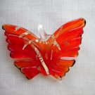 HOT TRUE RED NATURE GIRL BUTTERFLY GLASS PENDANT JEWELRY NECKLACE