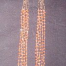 Handmade 5 Strand Coral Necklace