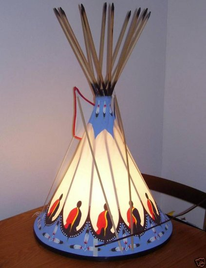 Lamp Handmade Native American Tee Pee