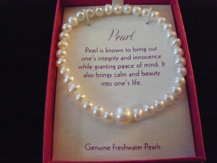 Genuine Freshwater Pearl Stretch Bracelet