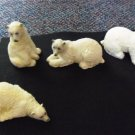 Mini Polar Bear Figurines