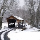 Covered Bridge in Winter-8x12