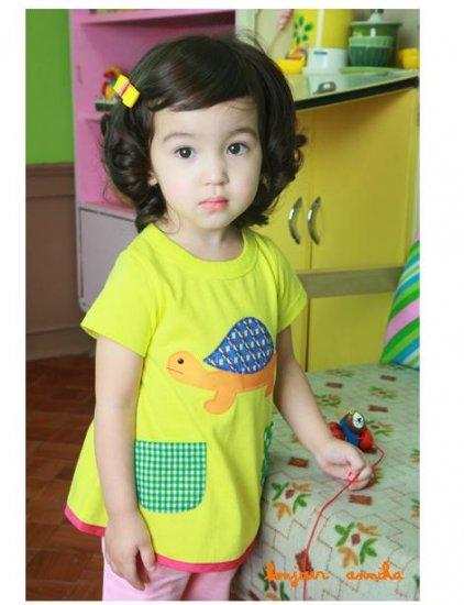 girls yellow T shirt size 6 NEW