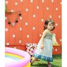 girls sleeveless blue summer dress 2T 3T 4T 6 NEW