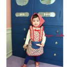 girls red apron dress 2T 3T 4T 6 NEW