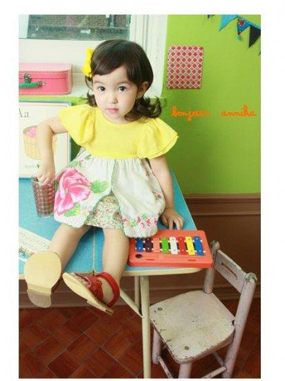 girls yellow vintage dress 3T,4T NEW