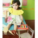 girls yellow vintage dress 3T,4T NEW