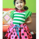 girls green t shirt 2T,3T,4T NEW