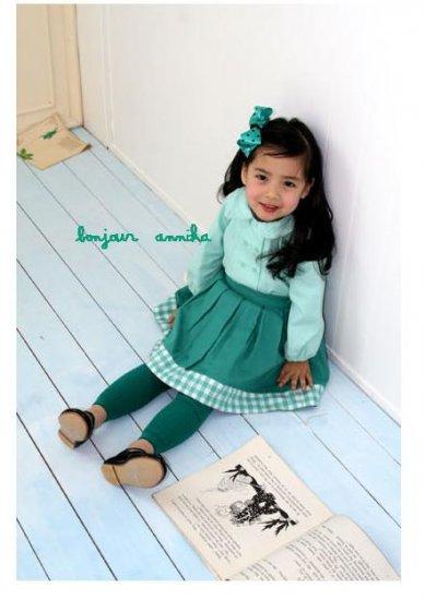 girls green skirt 3T,4T,6 NEW