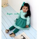 girls green skirt 3T,4T,6 NEW