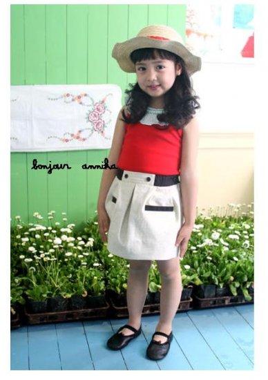 girls summer beige skirt 2T,3T,4T,6 NEW