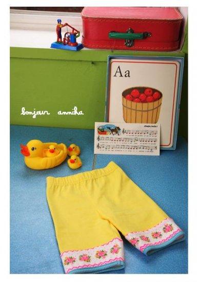 summer yellow leggings 2T,3T,4T,6 NEW