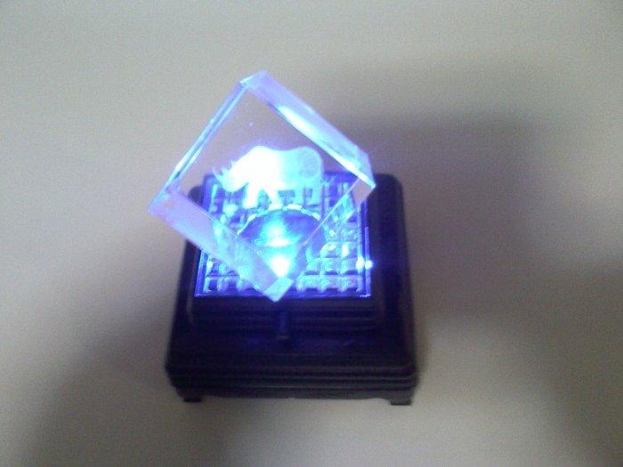 Crystal  animal light up cubes