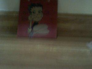 Betty Boop on woodeen plaque
