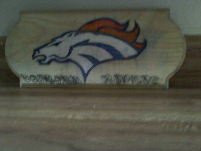 Denver Broncos Plaque