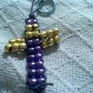Cross beaded key chain
