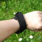 Black fish Leather (Cod) cuff bracelet