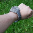 Gray fish leather (Cod) cuff bracelet