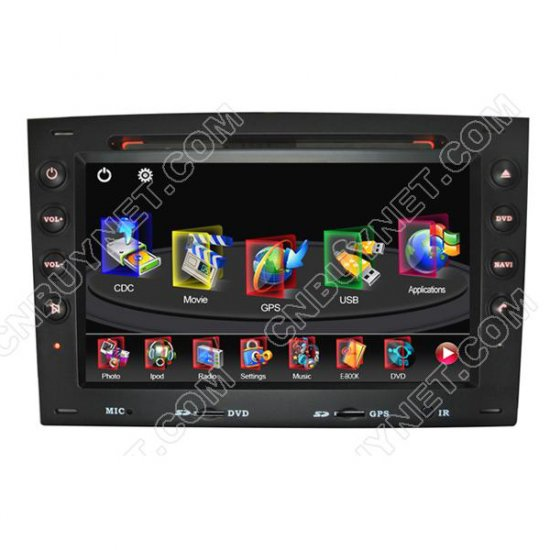 03-08 Renault Megane GPS DVD Player with Digital Touchscreen